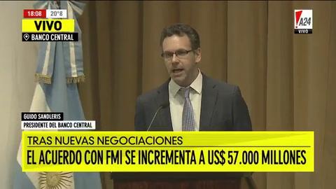 Sandleris anunció que el BCRA dejará flotar el dólar entre 34 y 44 pesos