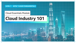 Chapter 1: Cloud Industry 101