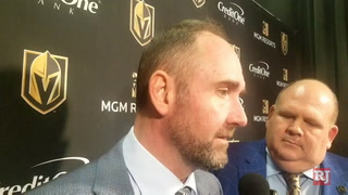 Golden Knights coach speaks after loss to Canadiens – VIDEO