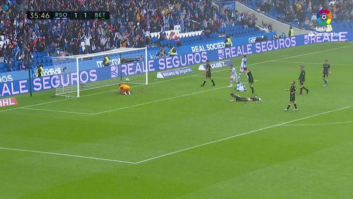 Gol de Willian José (2-1) en el Real Sociedad 3-1 Real Betis