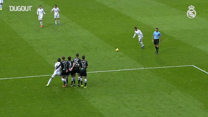 Cristiano Ronaldo's free kicks vs Real Sociedad