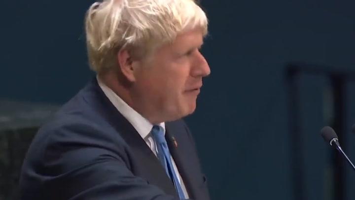 Boris Johnson's bizarre speech on 'limbless chickens' at UN in 2019