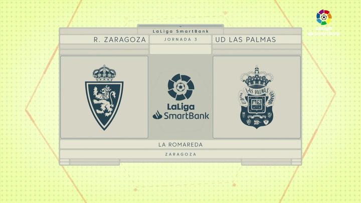 LaLiga SmartBank (J.3): Zaragoza 2-2 Las Palmas