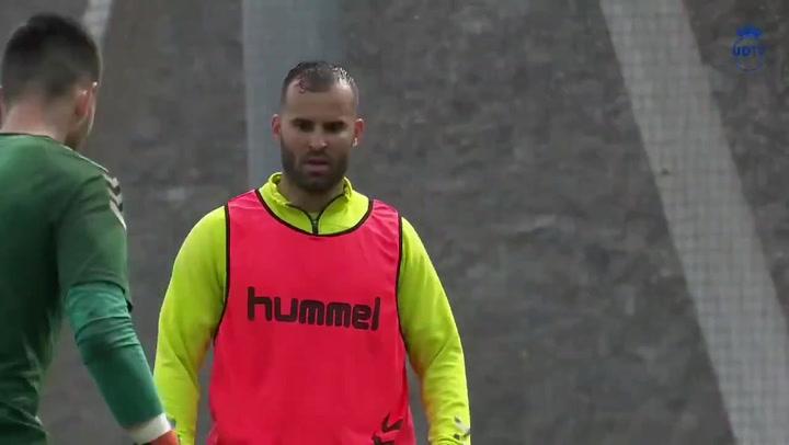 Así ha sido el primer entrenamiento de Jesé Rodríguez en su vuelta a la UD Las Palmas