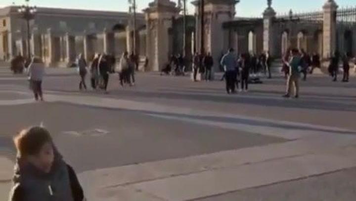 Antonela Roccuzzo, una turista más en Madrid