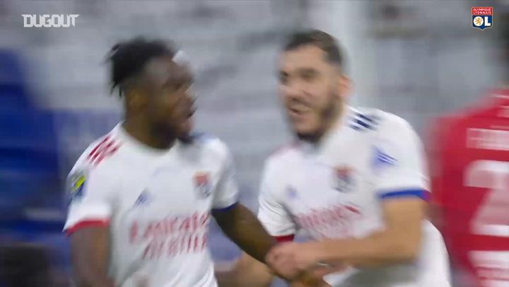 Caqueret's backheel assist vs Brest