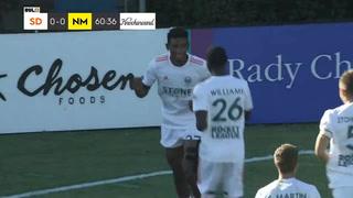 Douglas Martínez anota su segundo gol con el San Diego Loyal de Landon Donovan