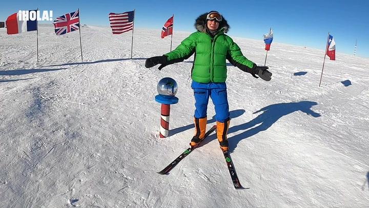 Paulina Villalonga no puede evitar las lágrimas al llegar al Polo Sur