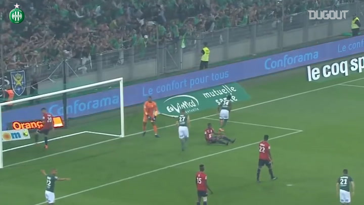 Saint-Etienne sinks Lille at Geoffroy Guichard