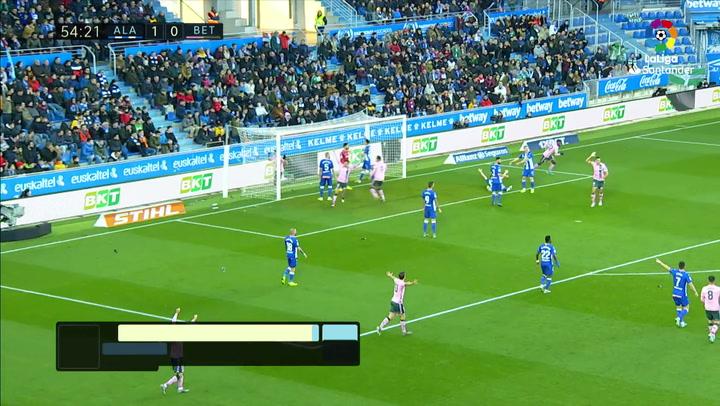 Gol de Emerson (1-1) en el Alavés 1-1 Betis