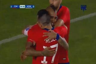Honduras pierde 2 - 1 ante Chile al término del primer tiempo