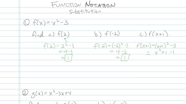 Function Notation - Problem 2