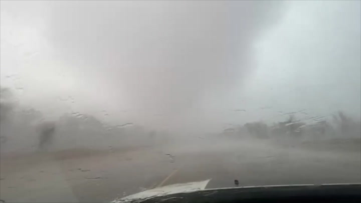 Here's what it's like to drive through a tornado