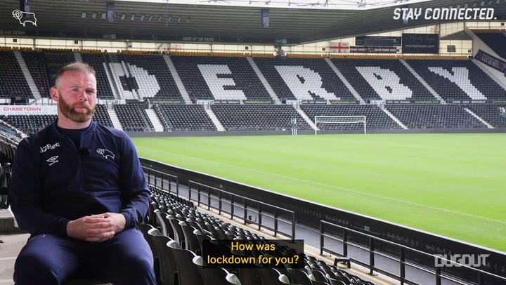 Wayne Rooney on life in lockdown and training game return
