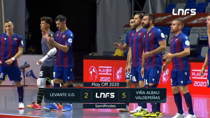 Resumen del Levante UD - Viña Albali Valdepeñas (2-5)