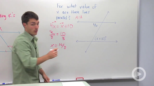 Converse of Parallel Lines Theorem - Problem 1