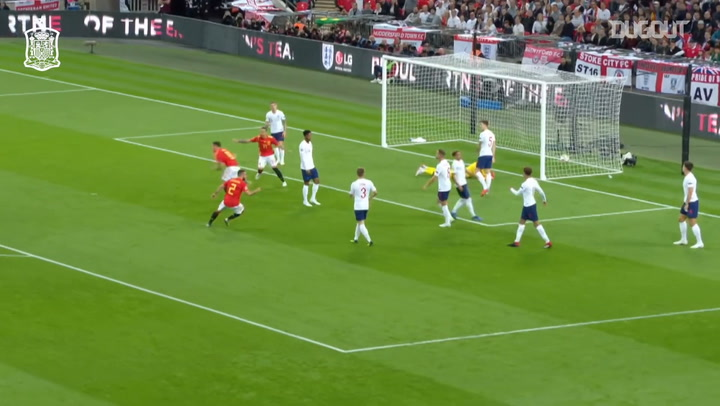 Saúl's goal vs England at Wembley