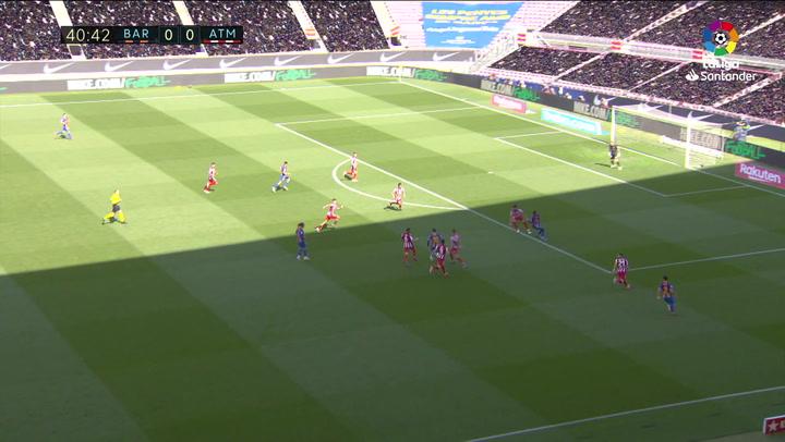 Todas las ocasiones del Barcelona contra el Atlético en el Camp Nou
