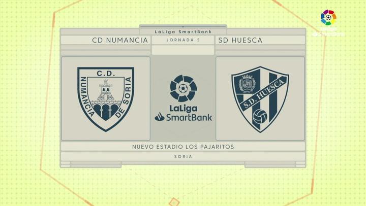 LaLiga SmartBank (J5): Resumen y goles del Numancia 1-0 Huesca