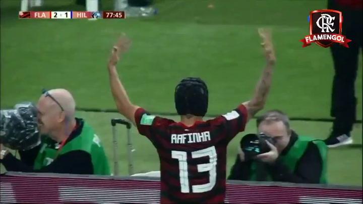 El segundo gol del Flamengo ante el Al Hilal