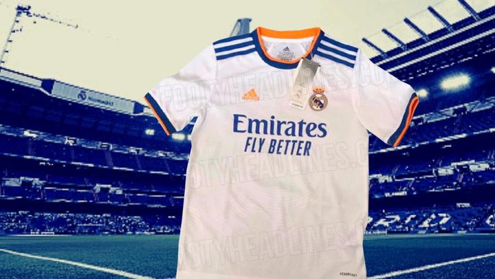 Así será la nueva camiseta del Real Madrid, según Footy Headlines