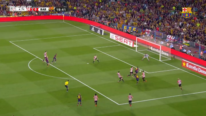 Barça score three against Athletic Bilbao in the Copa del Rey final