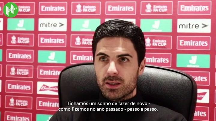 """Arteta fica desapontado com eliminação do Arsenal: """"Sonho acabou hoje"""""""