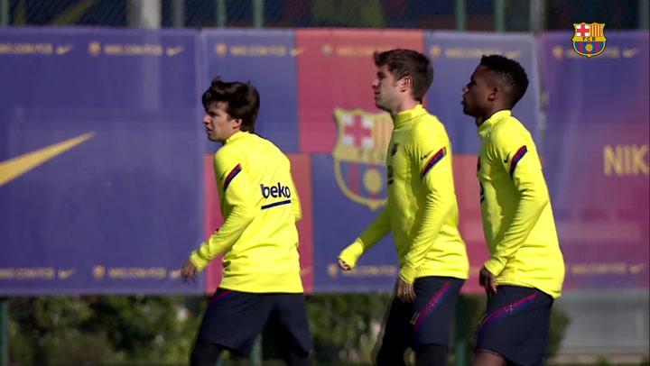 El Barça continua preparando el enfrentamiento contra el Eibar