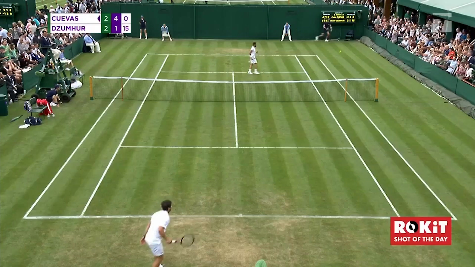WATCH: Cuevas hits likely contender for Wimbledon top shot