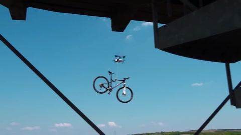 Le robaron la bicicleta con un drone