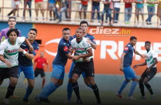 Juticalpa emtando 1-1 ante Motagua con golazo de Salas