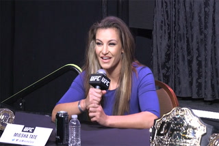 UFC champ Miesha Tate says she never turned down a rematch with Holly Holm