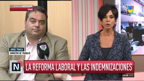 Jorge Triaca asegura que la reforma laboral busca blanquear a 500 mil trabajadores