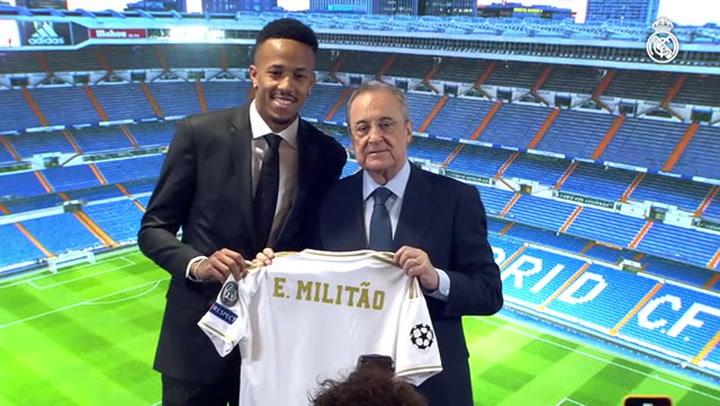 Presentación de Militao, nuevo fichaje del Real Madrid