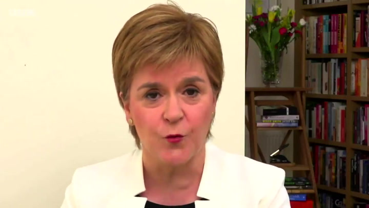 Nicola Sturgeon discusses implications of a border between an independent Scotland and the rest of the UK