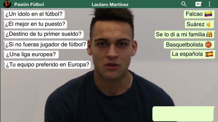 El test a Lautaro Martínez en 2007 donde desveló su equipo favorito en Europa