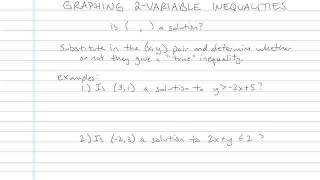 Graphing 2 Variable Inequalities - Problem 6