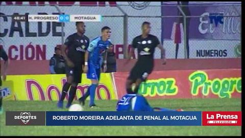 Roberto Moreira adelanta de penal al Motagua ante Honduras Progreso