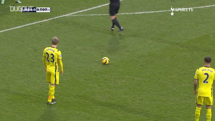 Christian Eriksen's incredible free-kick vs West Brom