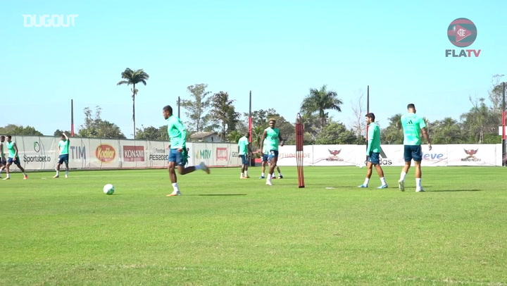 Flamengo's training session for the Atlético-GO game