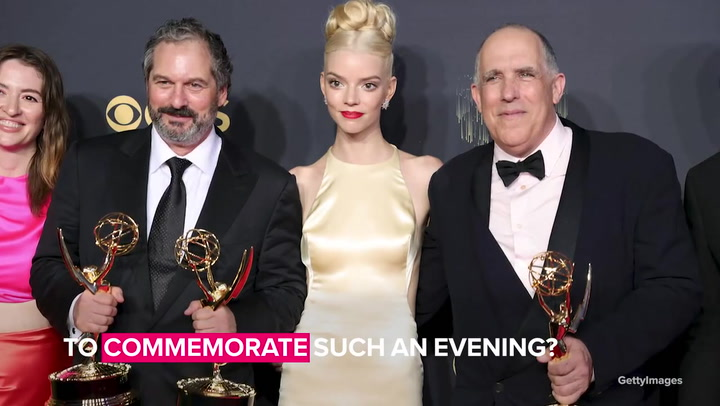 The Queen's Gambit cast and crew celebrate Emmy wins with game night