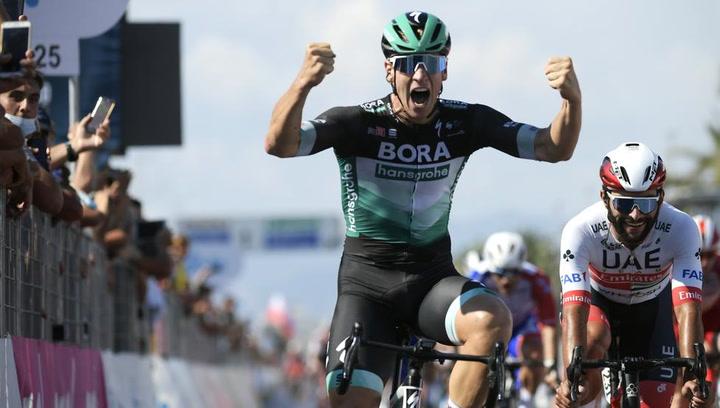 Pascal Ackermann ha ganado la primera etapa de la Tirrenadriatico y es el primer líder de la carrera