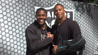 Johnathan Abram Interviews Rookie Josh Jacobs – Video