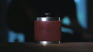 Brannigan - Leather Wrapped Stainless Steel Flask
