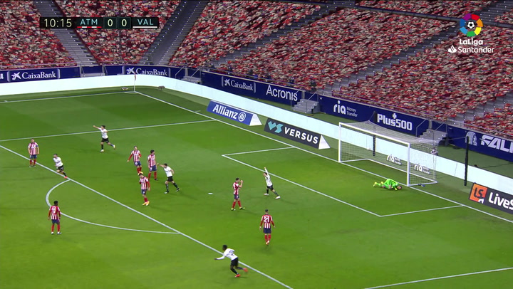 Gol de Racic (0-1) en el Atlético 3-1 Valencia