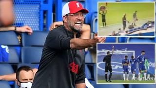 Expulsan a un rival y Klopp reacciona con bronca  por aplausos de su banquillo en el Chelsea vs Liverpool