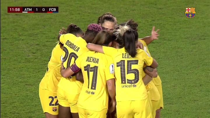 Atlético de Madrid - Barça Femenino. Resumen de la semifinal de Supercopa