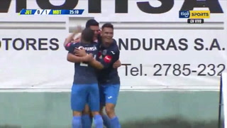 ¡Gol de Motagua! Marcelo Estigarriba abre el marcador 1-0 ante Juticalpa