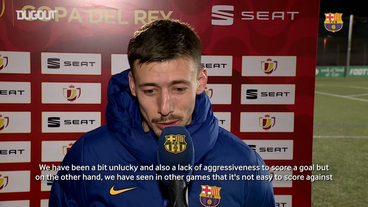Clément Lenglet: 'We have been a bit unlucky'