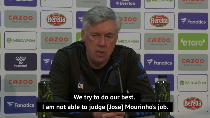 Ancelotti defends Mourinho amid Spurs pressure
